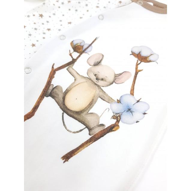 Человечек для малыша Cotton с авторским принтом