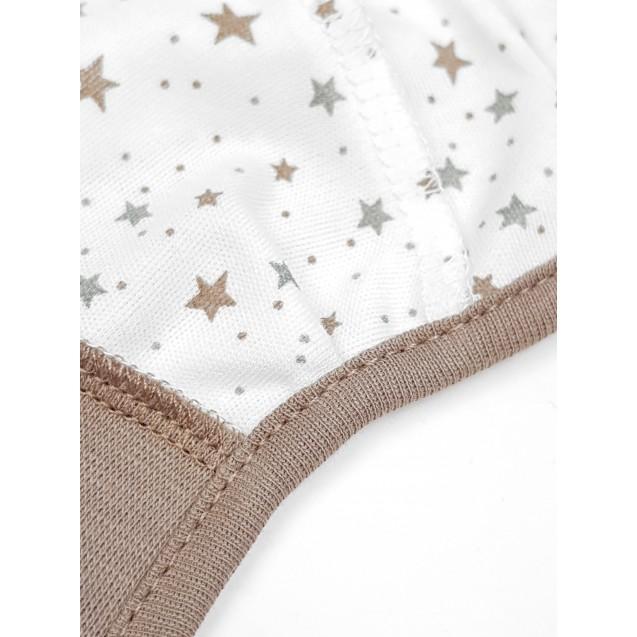 Чепчик на завязках Cotton с наружными швами